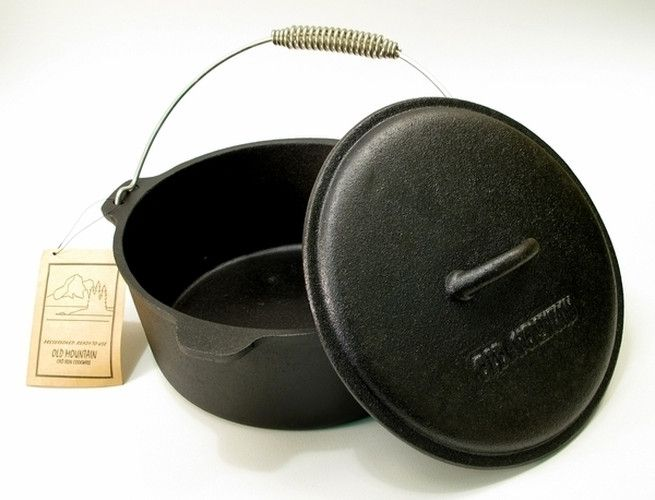Old Mountain Cast Iron Preseasoned 4.5 qt Quart Dutch Oven