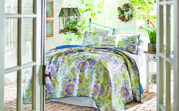 17 best images about postelnini on pinterest guest rooms bed linens and bedroom designs - Spring bedding makeover ideas ...