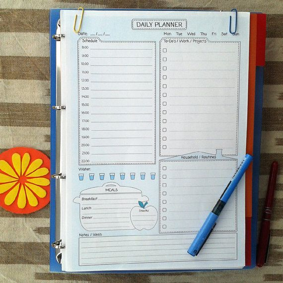 DAILY Planner Printable PDF and To Do list. by EasyLifePlanners