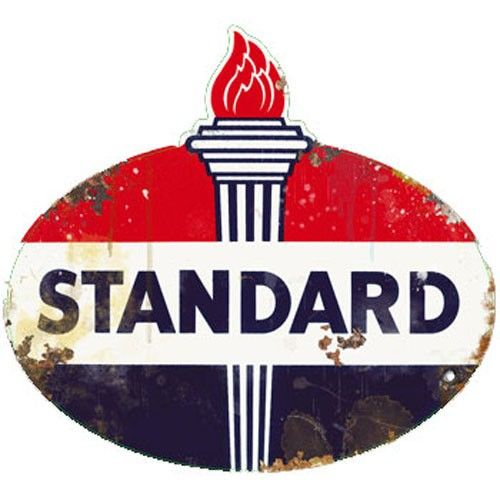 Standard Gas Vintage Sign. Just like the one I remember at the exit off of I-70 at my hometown in Kansas.