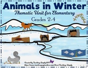 This thematic unit focuses on seven different animals' winter behaviors. Some are hibernators, some are not, some migrate, and some go into a state of torpor. Vocabulary, reading passages, practice worksheets, task cards, and an assessment included.