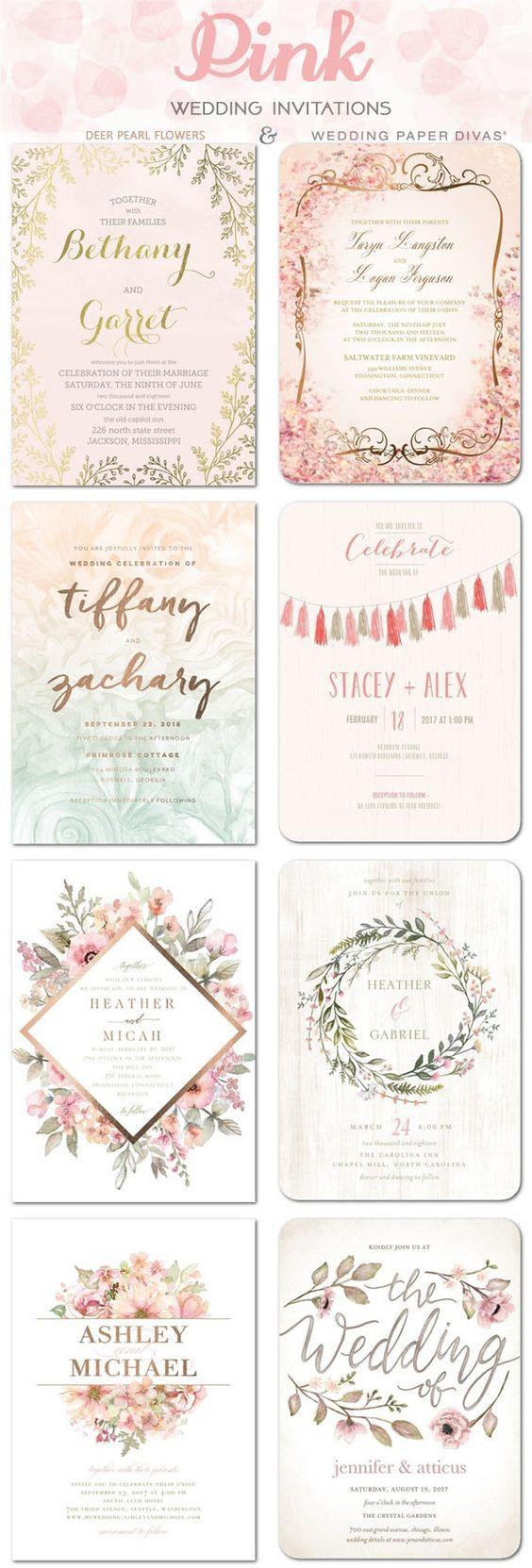 894 best Wedding Invitation images on Pinterest   Invitation ideas ...