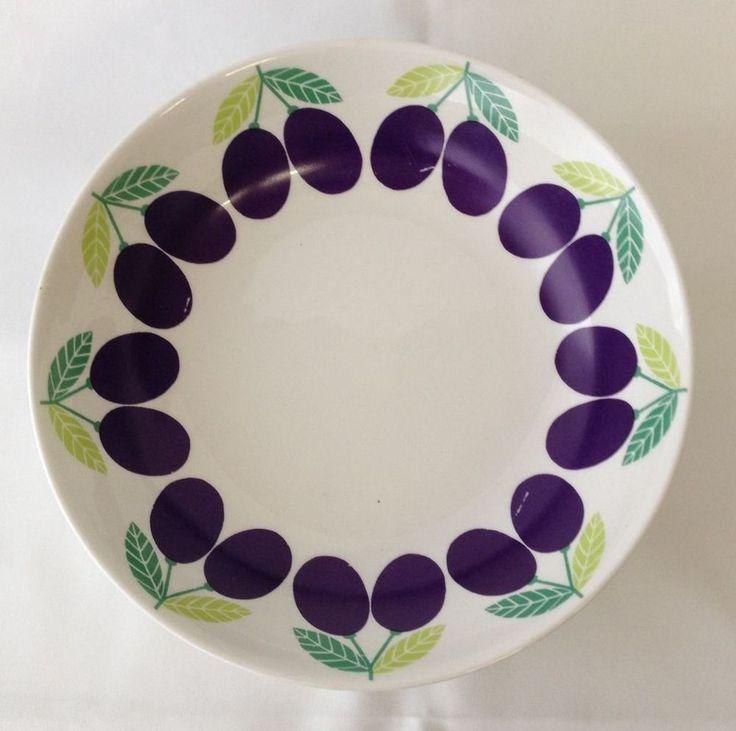 RARE Vintage 1969 ARABIA Finland Pomona Plum bowls (4) Raija Uosikkinen Design