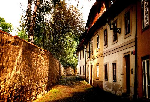 """Hidden places in Prague Castle area. Just steps away from main route Strahov Monastery you can find a charming quarter called """" New World""""/