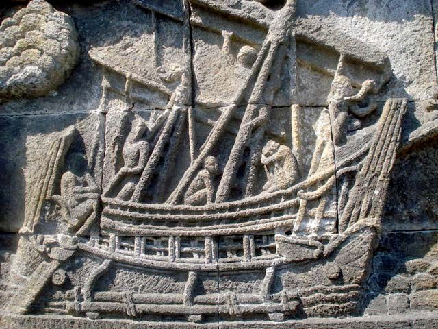 Amazing Ship  Story of  Borobudur Temple Reliefs
