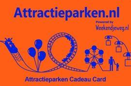 Attractieparken Cadeau Card  De Attractieparken.nl Cadeau Card is de cadeaubon voor een dagje naar een attractiepark.  https://www.sneltegoed.nl/nl/webshop/product/giftcards/dierentuinen_en_pretparken/C3374_1/132,weekendjewegnl_attractieparken_cadeau_card.html