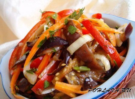 Способ приготовления салат из водорослей chuka