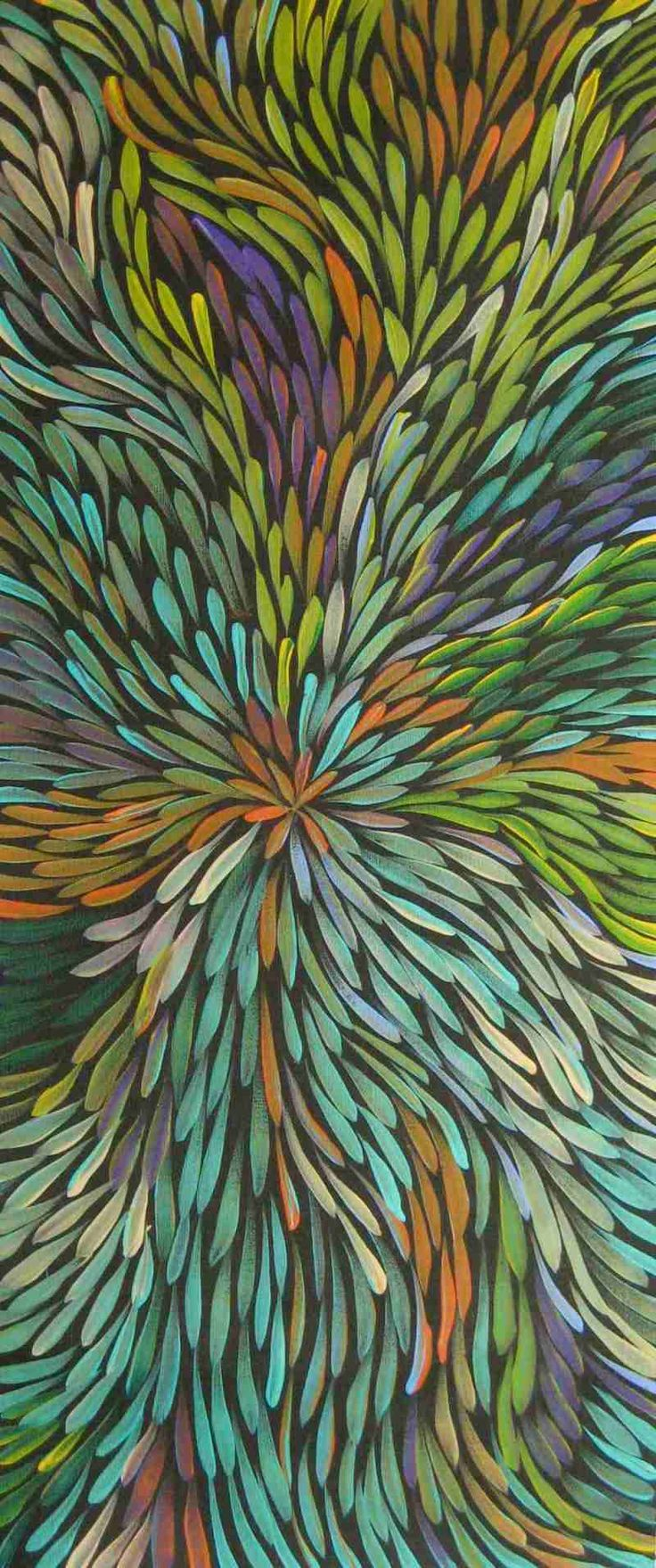 Aboriginal art is truly spectacular. Gloria Petyarre's painting here depicts a kurrajong plant