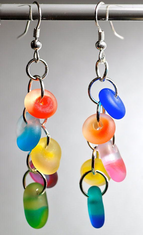 Sale earrings handmade seaglass drop earrings silver by paulbead, $17.50
