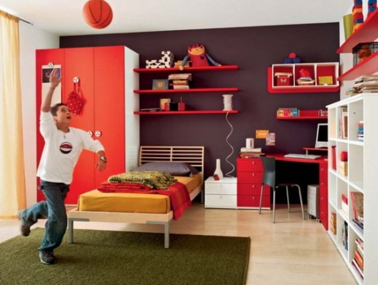 red interior colors adding passion and energy to modern interior design - Red White Bedroom Designs