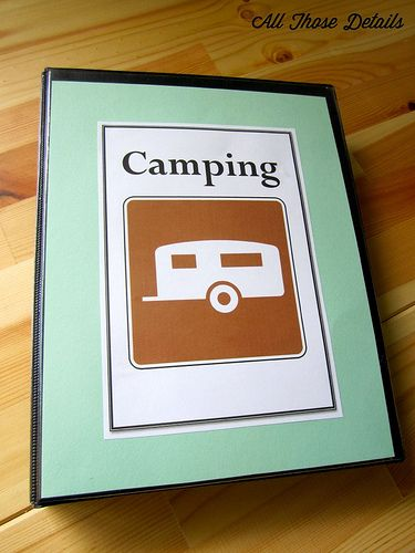 As we started keeping track of our camping trips through Camping Reviews, I realized that there was a lot of other paper stuff we were carrying around to each camping trip. Paperwork and camping do...