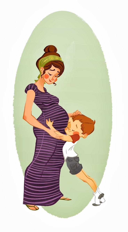 cute pregnancy illustration - Buscar con Google