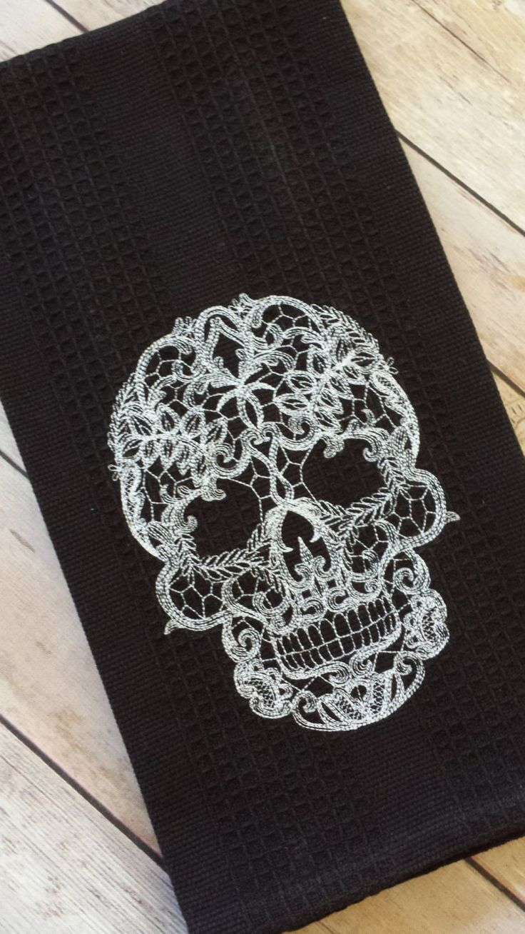 Skull Bathroom Decor 17 Best Ideas About Embroidered Towels On Pinterest Towel