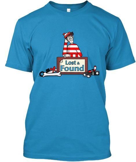 Lost And Found Sapphire T-Shirt - #whereswally #wally #books #shirt #whereswaldo #waldo