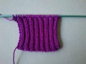 Knitting rib stitch (ribbing) 2 x 2 http://www.BelajarCaraMerajut.com