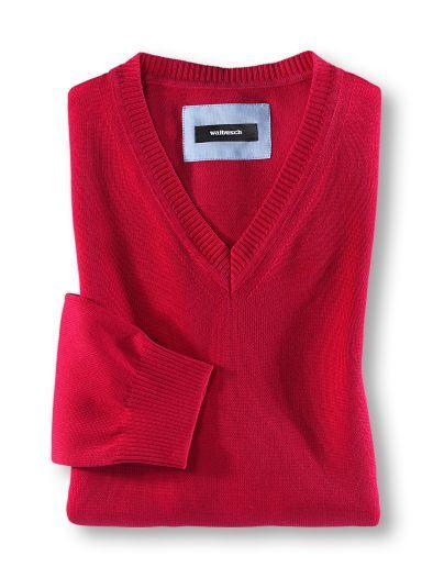 Baumwoll-Pullover: 100% Baumwolle. Formstabil. Pillingfrei