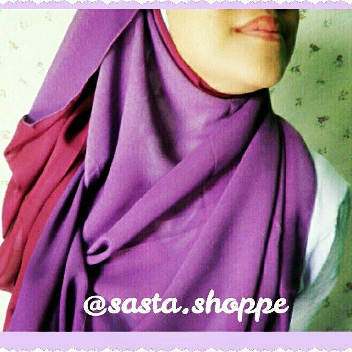 a two-tone pashmina chiffon dark purple-maroon. follow our IG @Sasta.Shoppe for further info.