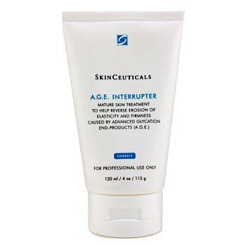 Skinceuticals A.G.E Interrupter Pro Size 4oz by Skin Ceuticals. $186.00. Helps correct thinning look of mature skin. Helps correct thinning look of mature skin Prevents glycation process & improves severe signs of aging Formulated with blueberry extract Slows down process of advanced glycation end-product (A.G.E.) formation Prevents hardening of collagen & elastin fibers Blended with Proxylane TM to accelerate GAG synthesis Recovers moisture & nutrients to dermal epidermal...