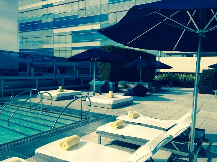 Lounging poolside at RC LALive