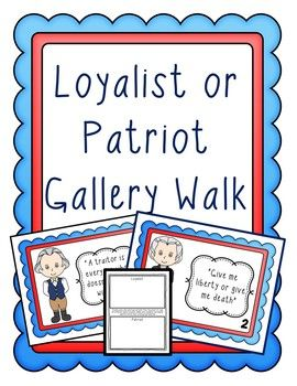loyalists or patriots Black patriots and loyalists contends that the struggle for emancipation was not only basic to the revolution itself, but was a rousing force that would inspire freedom movements like the abolition societies of the north and the black loyalist pilgrimages for freedom in nova scotia and sierra leone.
