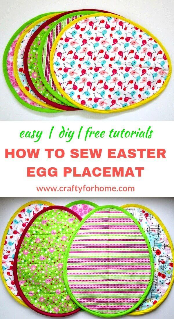 How To Sew Easter Egg Placemat Easter Sewing Crafts Easter Placemats Placemats Patterns
