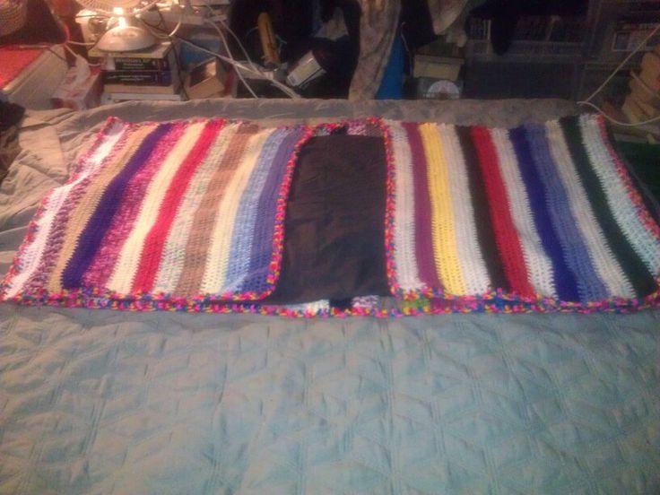 Multi striped poncho.