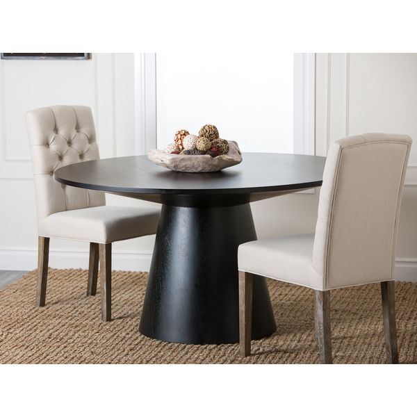 ABBYSON LIVING Sienna Round Wood Dining Table