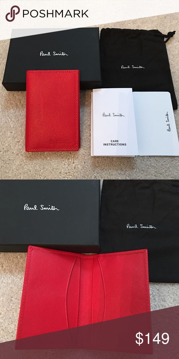 Paul Smith red leather card holder Brand new Paul Smith red leather card holder. 4 card slots. Made in Italy Paul Smith Accessories Key & Card Holders