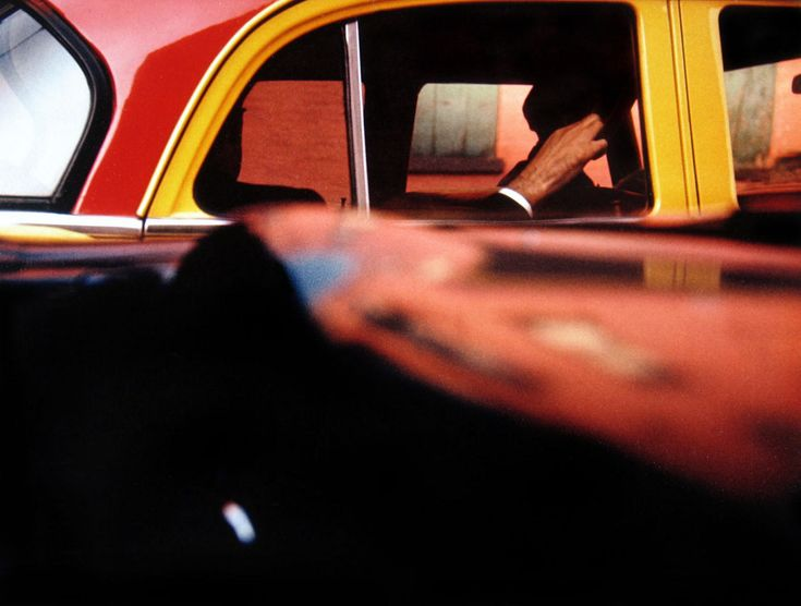 Colour photographs of New YorkPhotographers, Greenberg Gallery, Taxi, 1957, Art, Inspiration Photography, Howard Greenberg, New York, Saul Manager