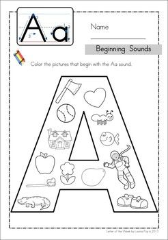 Beginning Sounds. Great for Preschool and Kindergarten! Repinned by SOS Inc. Resources pinterest.com/sostherapy/.