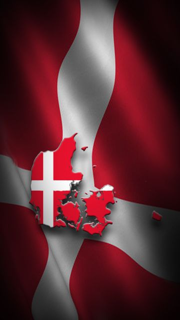 Denmark - our red & white flag 'Dannebrog' which means 'The cloth of the Danes'