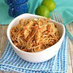 Pad Thai de pollo para sabores orientales estupendos 😊 #food #foodie #recetas #recipes #pollo #thaifood