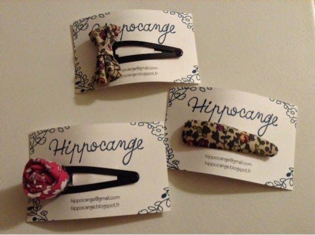 Mes loisirs creatifs: Carte de visite hippocange / hippocange のカード作り