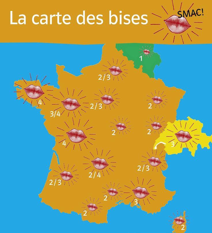 la carte des bises en France