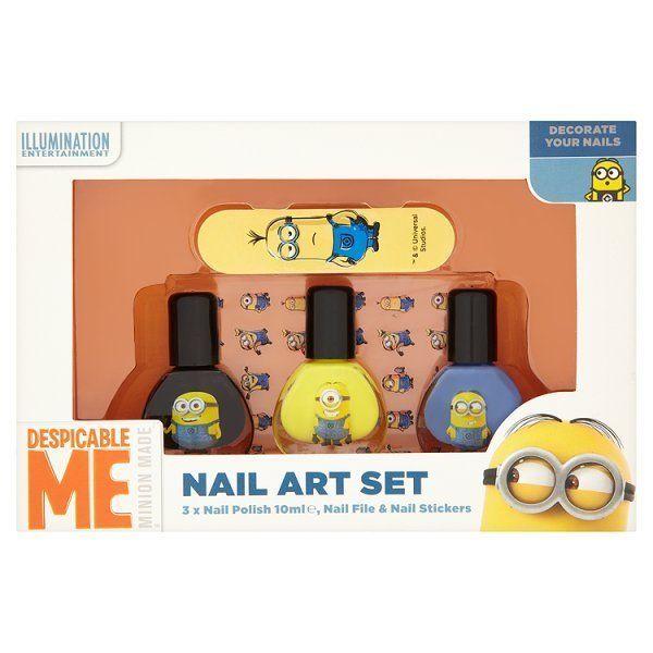 Minions nail art set
