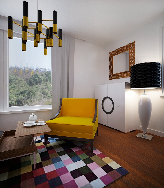 colorful home office by Altro Studio  http://altrostudio.com.pl