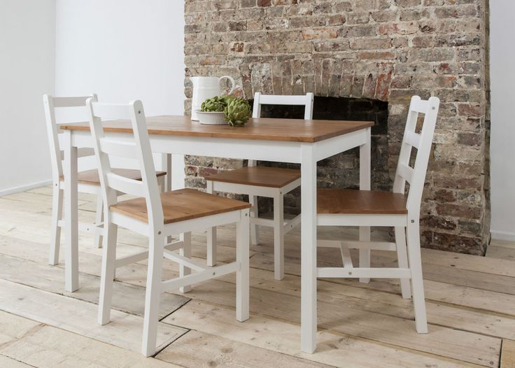 Dining Table And 4 Chairs Contemporary Set In Choice Of Colours Annika