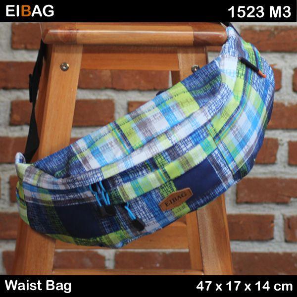 Waist bag murah Bandung warna lainnya produk EIBAG. Yaitu dengan kode 1523 M3. Bahan yang digunakan untuk bagian luarnya menggunakan bahan berkualitas bagus. Bahan luar bermotif dengan warna cerah. Sedangkan bahan bagian dalam menggunakan bahan lapis yang juga bagus kualitasnya. Terdiri dari 1 kabin utama yang di dalamnya ada saku organizer. Bisa untuk mengyimpan HP …
