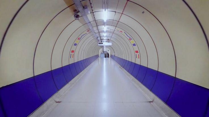 in de metro van Londen
