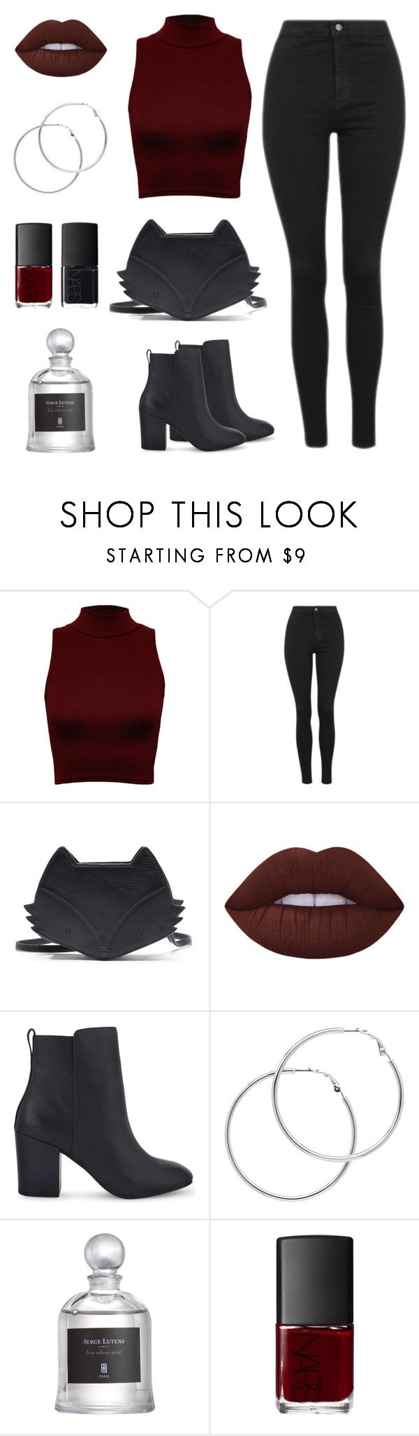 """Untitled #83"" by mikki11111111 ❤ liked on Polyvore featuring WearAll, Topshop, Lime Crime, ALDO, Melissa Odabash, Serge Lutens, NARS Cosmetics, college and fox"