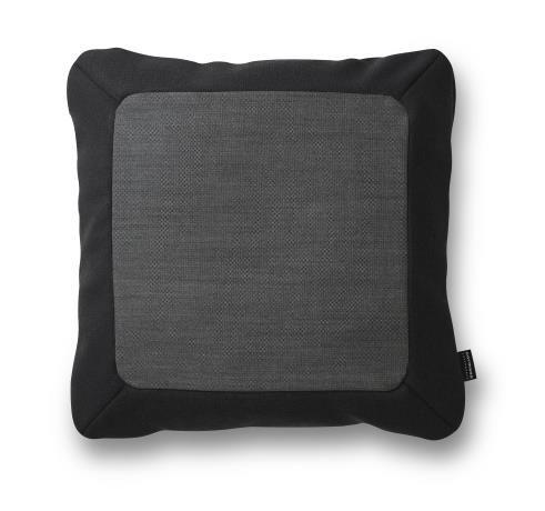 Frame Cushion 50 x 50 cm, dark grey