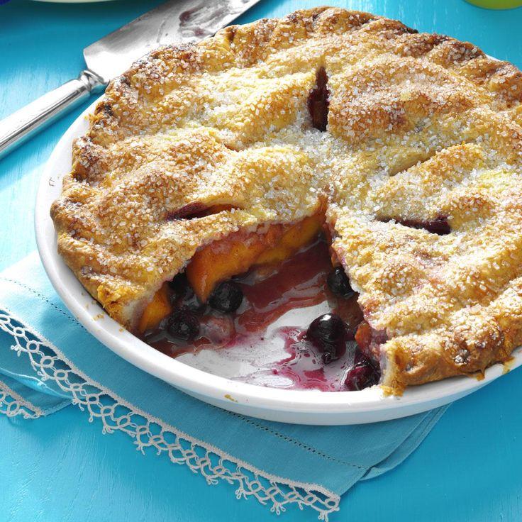 Peach Blueberry Pie | Recipe | Pie recipes, Michigan and Folk