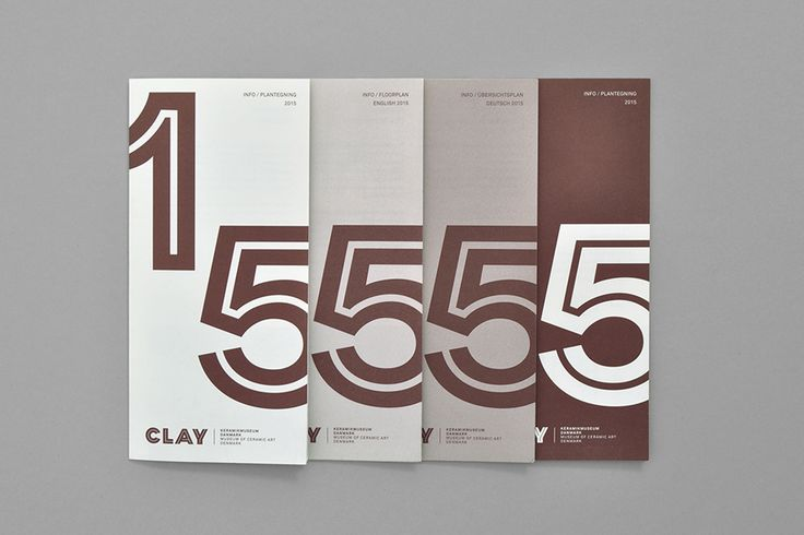 Brand Identity and print for Clay — Museum of Ceramic Art Denmark by Designbolaget. #museum #gallery