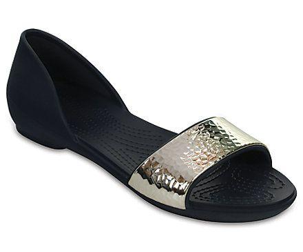 Women's Crocs Lina Embellished D'Orsay Flat - Angle