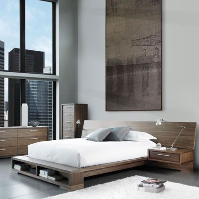 Schön Modern Furniture Toronto   BLVD Interiors   Bedroom   Beds   Sonoma Bed W/  Double Headboard U0026 Front Storage
