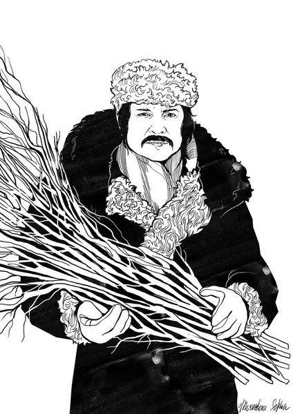 "«Андрей Тарковский""». Софья Мироедова.  #helloposter #poster #posters #art #modernart #printart #illustrators #illustration"