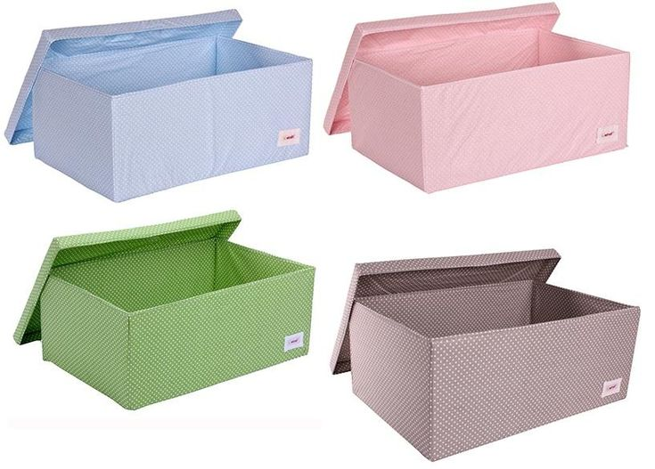 Baby Bedroom In A Box Special: Polkadot Fabric Storage Boxes For Childrens Rooms Hippins