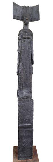 An original sculpture by Deborah Bell entitled: Sentinel I. bronze. #DeborahBell #FineArt #SouthAfricanArt #SouthAfricanArtist #Bronze #Sentinel For more please visit: www.finearts.co.za
