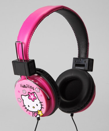$14.99 Take a look at this Pink 'Hello Kitty' Headphones by Hello Kitty Collection on #zulily today!
