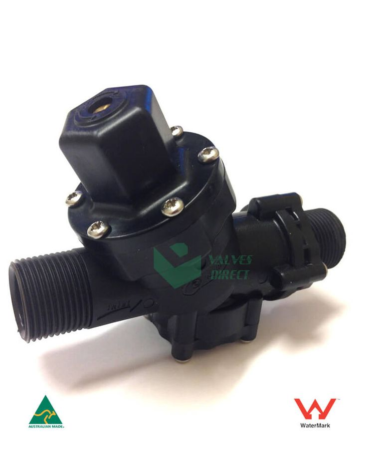 Valves Direct - Pressure Reduction Valve 20 mm Straight Through Compact and Robust Design, Pressure Range : 100 – 600kPa, Body – 30%Glass Filled Nylon and External Screws: Stainless Steel 304.
